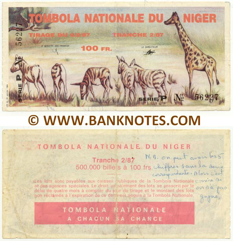Niger lottery first issue