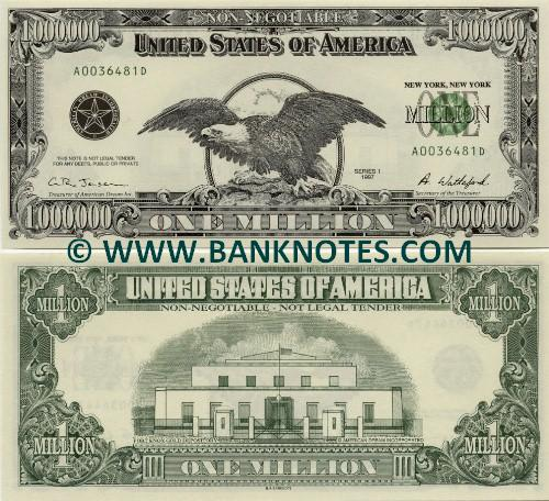 Banknotes Com World Banknotes X Usa One Million