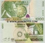 Albania 1000 Lekë 2001 (Serial # OC268883) UNC