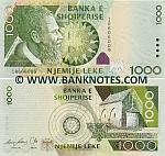 Albania 1000 Lekë 2007 (Serial # IR606010) UNC