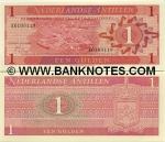 Netherlands Antilles 1 Gulden 1970 (E01354xx) UNC