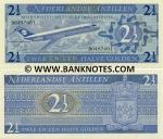 Netherlands Antilles 2 1/2 Gulden 1970 (D04976xx) UNC