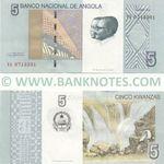 Angola 5 Kwanzas Oct. 2012 (YA07133xx) UNC