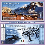 Antarctica 1 Dollar 1999 (Z84xx) UNC