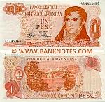 Argentina 1 Peso (1970-73) (02.989.2xxE) UNC
