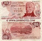 Argentina 100 Pesos (1976-78) (81.xxx.xxxD) UNC