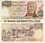 Argentina 1000 Pesos (1976-83) (32.717.2xxI) UNC