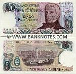Argentina 5 Pesos Argentinos (1983-84) (50.462.xxxA) UNC