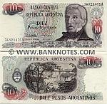 Argentina 10 Pesos Argentinos (1983-84) (00.497.5xxA) UNC