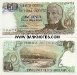 Argentina 50 Pesos Argentinos (1983-85) (21.418.6xxA) UNC