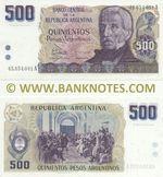 Argentina 500 Pesos Argentinos (1984) (45.854.0xxA) UNC