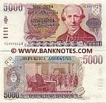 Argentina 5000 Pesos Argentinos (1984-85) (94.986.xxxA) UNC