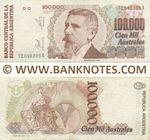 Argentina 100000 Australes (1990) (32.040.305A) (circulated) VF