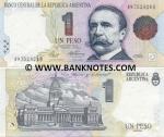 Argentina 1 Peso (1992) (49.752.8xxB) AU+