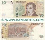 Argentina 10 Pesos (2013) (371501xx Q) UNC