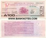 Argentina 100 Australes Exp. 1991 (090276xx/Serie G) UNC