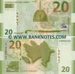 Azerbaijan 20 Manat 2005 (A7898670x) UNC