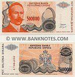 Bosnia & Herzegovina (Republika Srpska) 5000000 Dinara 1993 (A19848xx) UNC