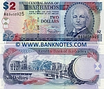 Barbados 2 Dollars 2007 (H45/0589xx) UNC
