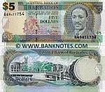 Barbados 5 Dollars 2007 (G49/5077xx) UNC