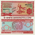 Burundi 20 Francs 2007 (DW9453xx) UNC