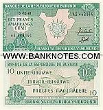 Burundi 10 Francs 1991 (AN0043xx) UNC
