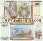 Burundi 50 Francs 1.11.2007 (DY202xxx) UNC