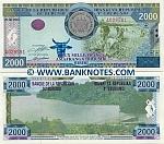 Burundi 2000 Francs 2001 (S9136xx) UNC