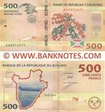 Burundi 500 Francs 15.01.2015 (AA99122xx) UNC