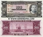 Bolivia 100 Bolivianos 1945 (L1/000178) UNC