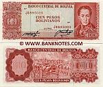 Bolivia 100 Pesos Bolivianos 1962 (J48950xx) UNC