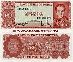 Bolivia 100 Pesos Bolivianos 1962 (12H5843xx) UNC