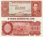 Bolivia 100 Pesos Bolivianos 1962 (17T065668) UNC