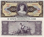 Brazil 5 Centavos on 50 Cruzeiros (1966-67) (1232A/022301) UNC
