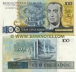 Brazil 100 Cruzados (1987) (A14930733xxA) UNC
