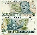Brazil 500 Cruzados (1988) (A77360914xxA) UNC
