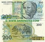 Brazil 200 Cruzeiros (1990) (A06280672xxA) UNC