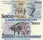 Brazil 5000 Cruzeiros (1993) (A57440995xxA) UNC