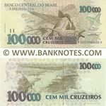 Brazil 100000 Cruzeiros (1992) (A60530905xxA) UNC