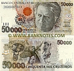 Brazil 50 Cruzeiros Reais on 50000 Cruzeiros (1993) (A62910873xxA) UNC