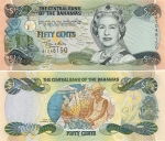 Bahamas 50 Cents 2001 (A10375xx) UNC