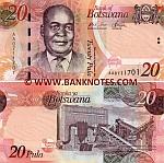 Botswana 20 Pula 2009 (AA07117xx) UNC