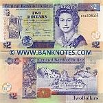 Belize 2 Dollars 2007 (DF7006xx) UNC