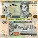Belize 10 Dollars 2005 (DD5148xx) UNC