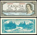 Canada 5 Dollars 1954 (N/X4150005) (circulated) VF