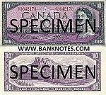 Canada 10 Dollars 1954 (1955-61) (D/T1498157) UNC