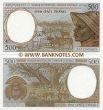 Congo Republic 500 Francs 2000 (C-0011837xxx) UNC