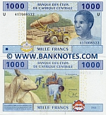 Cameroon 1000 Francs 2002 (2010) (4170085xx) UNC
