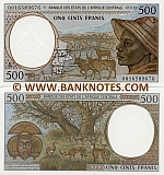 Gabon 500 Francs 2000 (L 00165896xx) UNC