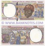Gabon 5000 Francs 2000 (L 0039778624) UNC